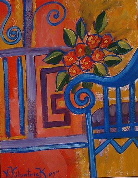 Art: On The Terrace by Artist Virginia Kilpatrick