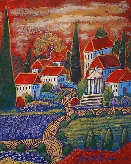 Art: Village D'Imagination by Artist Virginia Kilpatrick