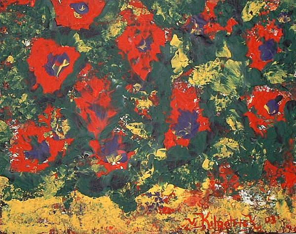 Art: Sunlight Flowers by Kilpatrick EBSQ+ by Artist Virginia Kilpatrick