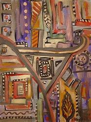 Art: Abstract City Life by Kilpatrick by Virginia Kilpatrick