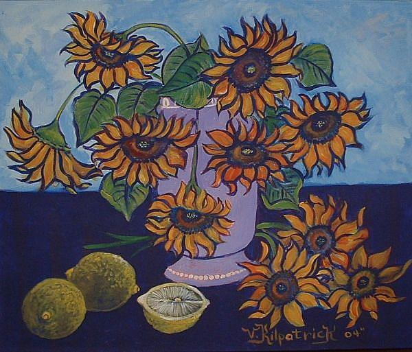 Art: Sunflowers and Lemons Two by Kilpatrick by Artist Virginia Kilpatrick