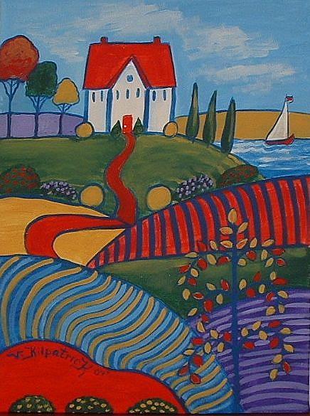 Art: Beach House Fauve by Kilpatrick by Artist Virginia Kilpatrick