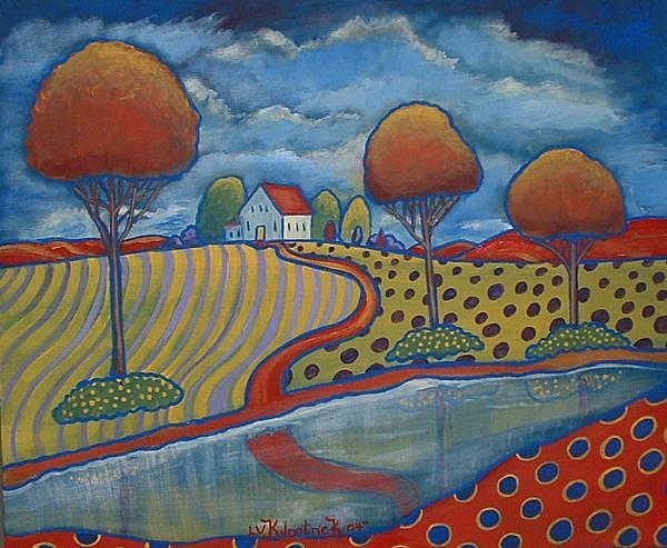 Polka Dot Landscape By Virginia Kilpatrick From Paintings Oils