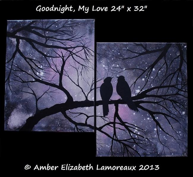 Art: Goodnight, My Love (sold) by Artist Amber Elizabeth Lamoreaux