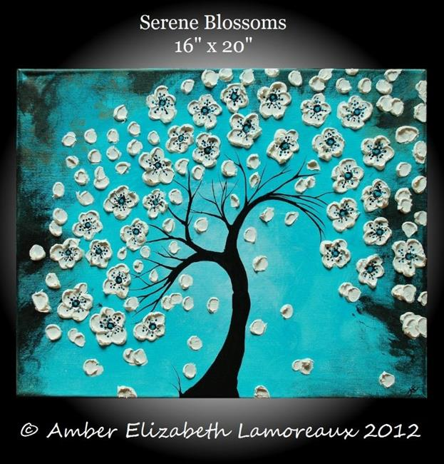 Art: Serene Blossoms (sold) by Artist Amber Elizabeth Lamoreaux