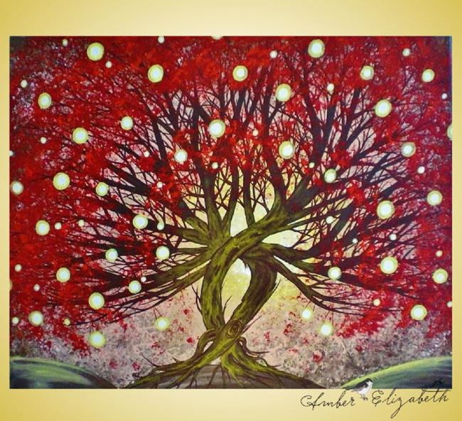 Art: Maple Aglow (sold) by Artist Amber Elizabeth Lamoreaux