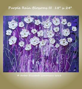 Detail Image for art Purple Rain Blossoms III (sold)