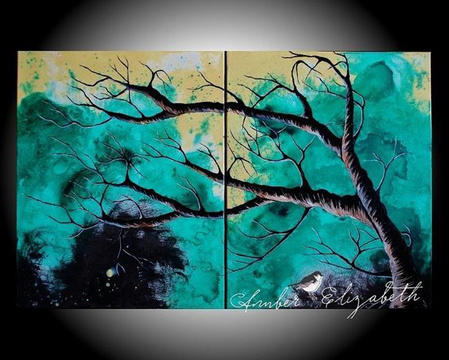 Art: The Jade Tree (sold) by Artist Amber Elizabeth Lamoreaux