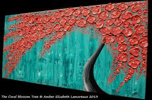 Detail Image for art The Coral Blossom Tree (sold)