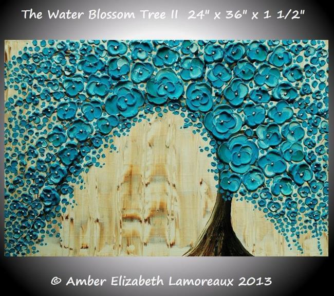 Art: The Water Blossom Tree II by Artist Amber Elizabeth Lamoreaux