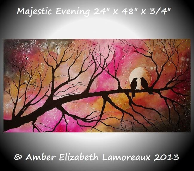 Art: Majestic Evening by Artist Amber Elizabeth Lamoreaux
