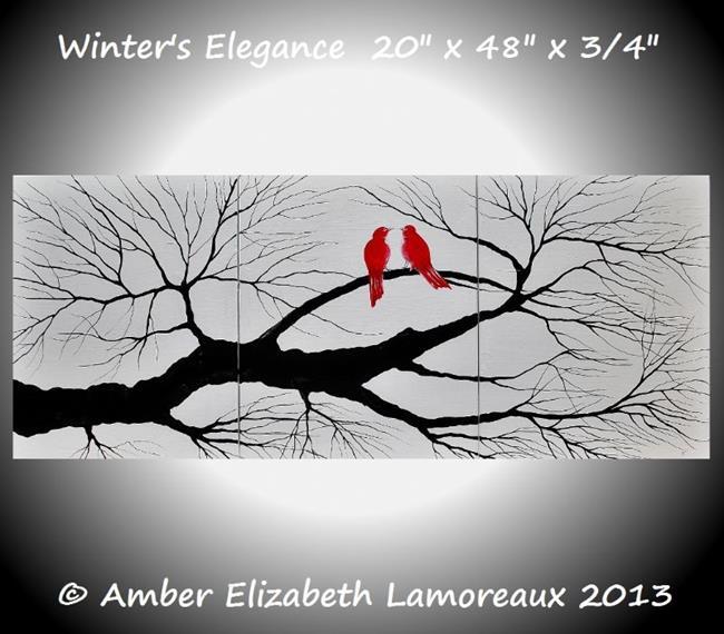 Art: Winter's Elegance (sold) by Artist Amber Elizabeth Lamoreaux