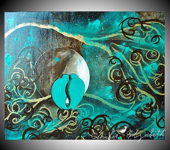Art: A Love Song (in Chocolate Mint Major) (sold) by Artist Amber Elizabeth Lamoreaux