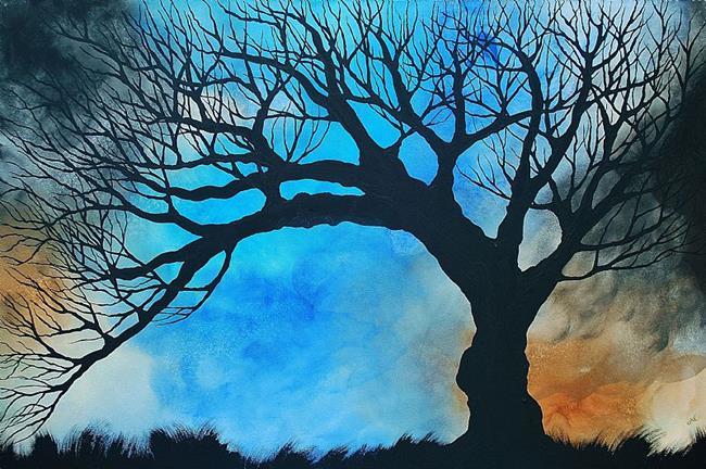 Art: Lapis Windsong (sold) by Artist Amber Elizabeth Lamoreaux