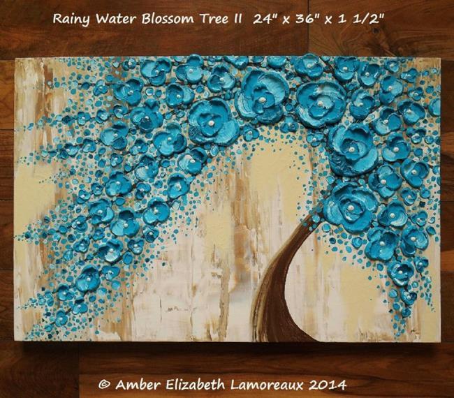 Art: Rainy Water Blossom Tree II (sold) by Artist Amber Elizabeth Lamoreaux