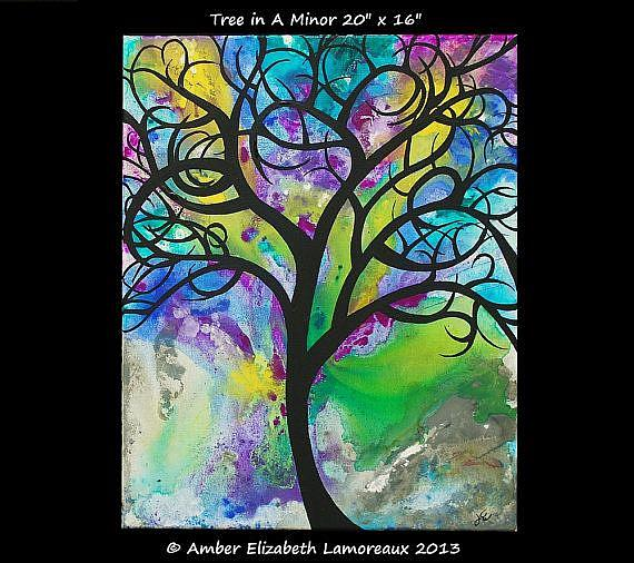Art: Tree in A Minor (sold) by Artist Amber Elizabeth Lamoreaux