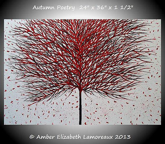 Art: Autumn Poetry (sold) by Artist Amber Elizabeth Lamoreaux