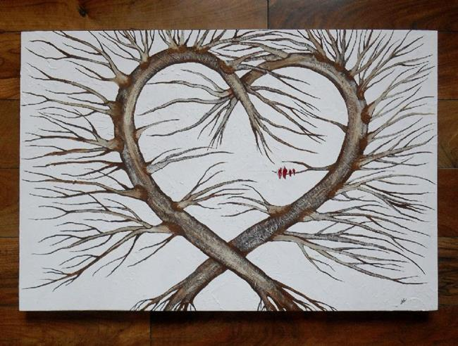 Art: The Heart Tree (sold) by Artist Amber Elizabeth Lamoreaux