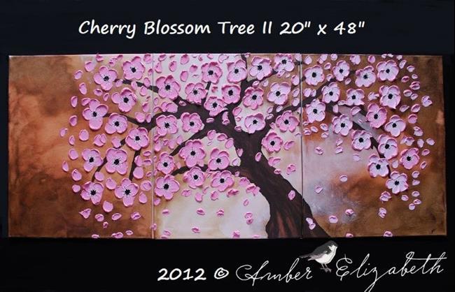 Art: Cherry Blossom Tree II (sold) by Artist Amber Elizabeth Lamoreaux