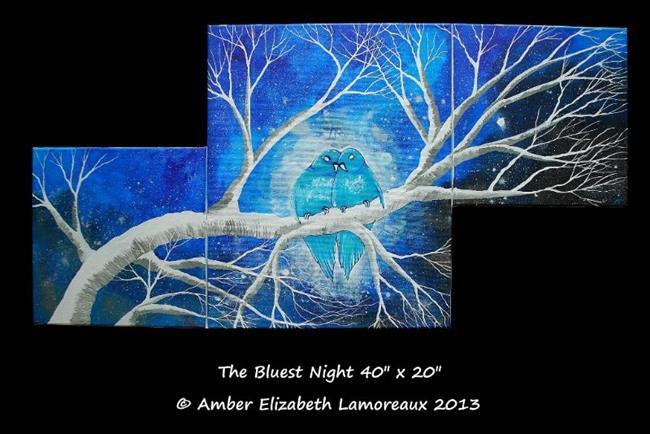 Art: The Bluest Night (sold) by Artist Amber Elizabeth Lamoreaux