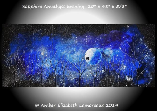 Art: Sapphire Amethyst Evening (Sold) by Artist Amber Elizabeth Lamoreaux