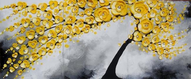 Art: Yellow Serenity (sold) by Artist Amber Elizabeth Lamoreaux
