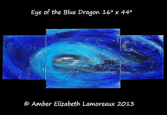 Art: Eye of the Blue Dragon (sold) by Artist Amber Elizabeth Lamoreaux