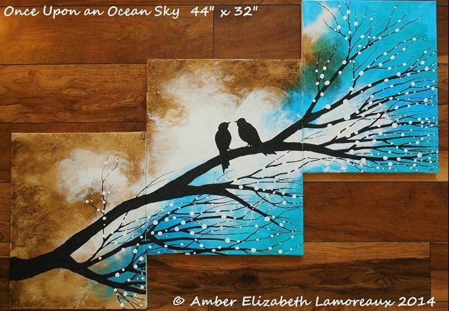 Art: Once Upon an Ocean Sky (sold) by Artist Amber Elizabeth Lamoreaux