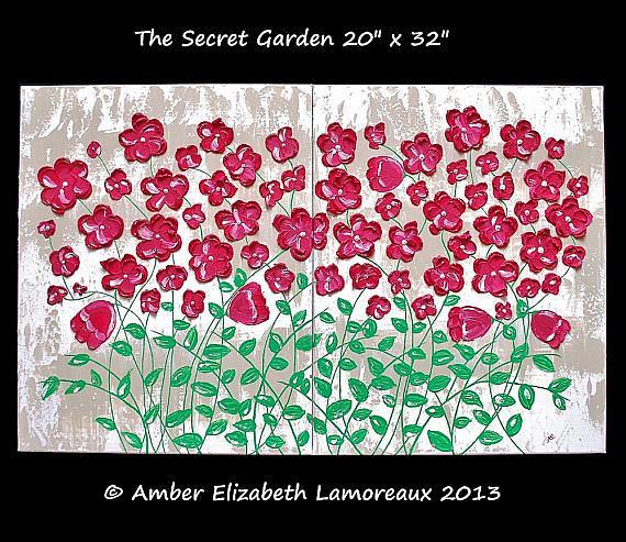 Art: The Secret Garden (sold) by Artist Amber Elizabeth Lamoreaux