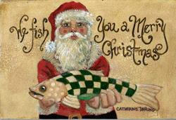 Art: We Fish You A Merry Christmas by Artist Catherine Darling Hostetter