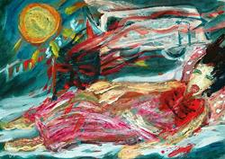 Art: Very sick by Artist Gabriella Cleuren