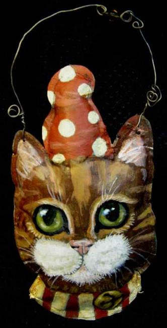 Art: Party Cat by Artist Catherine Darling Hostetter