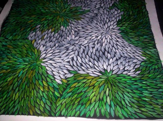 Art: Medicine Leaves (sold) by Artist Gypsy {Ani } T.  Draven