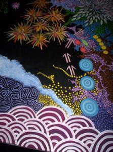 Detail Image for art Mother Lands (sold)