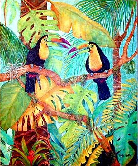 Art: Toucans by Artist Ulrike 'Ricky' Martin