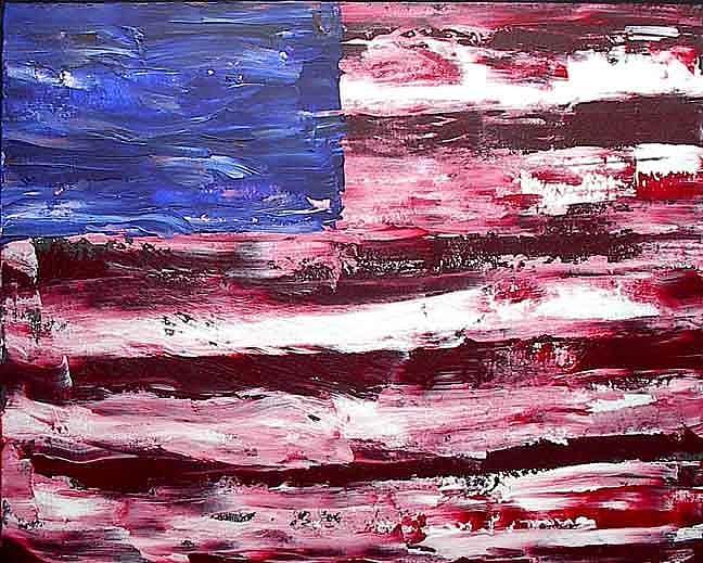Art: American Flag #3 by Artist PJ Gorman