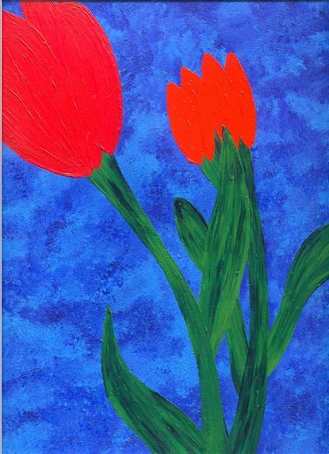Art: Two Tulips by Artist Melyssa A. Harmon
