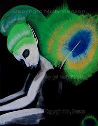 Art: Peacock Fae by Artist Misty Benson