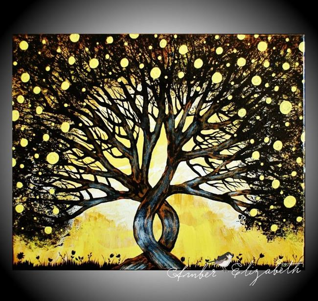 Art: The Lemon Tree (sold) by Artist Amber Elizabeth Lamoreaux