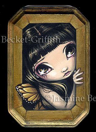 Art: Peering Out Again by Artist Jasmine Ann Becket-Griffith