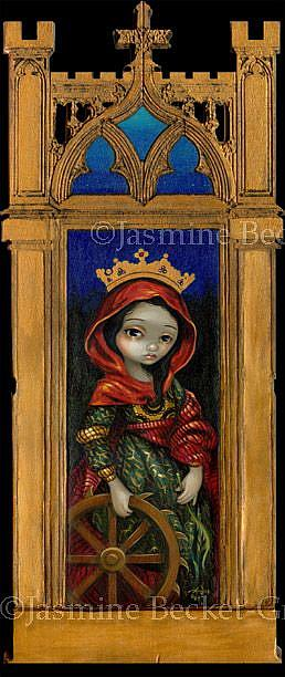 Art: Saint Catherine by Artist Jasmine Ann Becket-Griffith