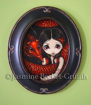 Art: Me and My Red Dragon by Artist Jasmine Ann Becket-Griffith