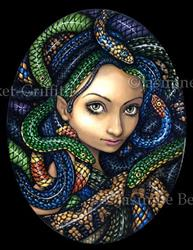 Art: Portrait of Medusa by Artist Jasmine Ann Becket-Griffith