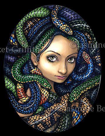 Art: Portrait of Medusa by Artist Jasmine Ann Becket-Griffith
