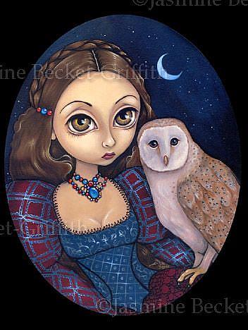 Art: Barn Owl Princess by Artist Jasmine Ann Becket-Griffith