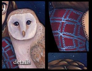 Detail Image for art Barn Owl Princess