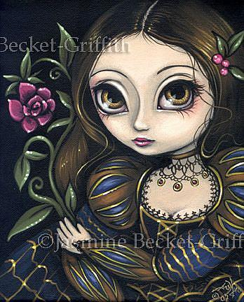 Art: Princess with a Pink Flower by Artist Jasmine Ann Becket-Griffith