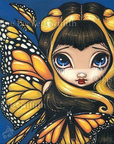 Art: Golden Butterflies by Artist Jasmine Ann Becket-Griffith