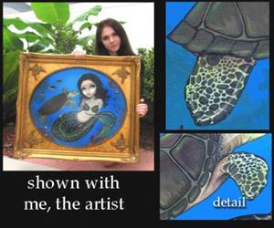 Detail Image for art Sea Turtle Mermaid
