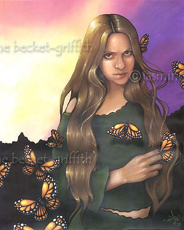 Art: Butterfly Maiden by Artist Jasmine Ann Becket-Griffith